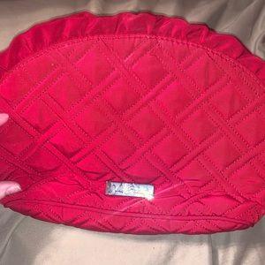 Red Vera Bradley makeup bag